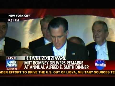Mitt Romney & Barack Obama @ Alfred E. Smith Memorial Dinner (Full Video) 10/18/12