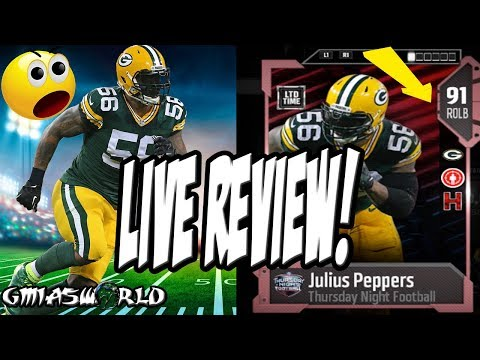 Madden 18 Review Of LTD TNF JULIUS PEPPERS! GmiasWorld IRL LIVE MUT 18 Gameplay Review | FULL GAME
