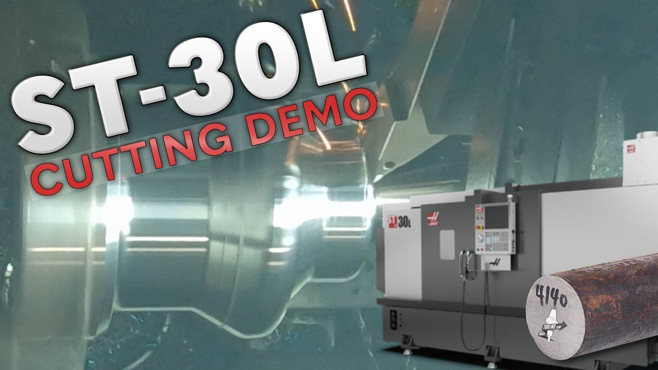 Haas ST-30L Cutting 4140 - Rough to Finish - Haas Automation, Inc.