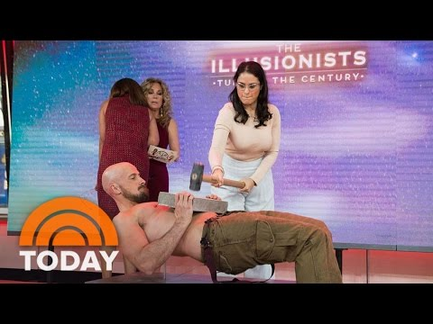 'Illusionists' Daredevil Lie On A Nails And Withstand A Sledgehammer! | TODAY