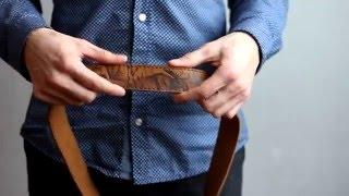 видео ремень из натуральной кожи