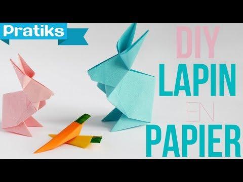 origami comment faire un lapin en papier youtube. Black Bedroom Furniture Sets. Home Design Ideas