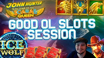 Good ol' Slots Session Compilation Video ~ book of Christmas, Ice wolf & more