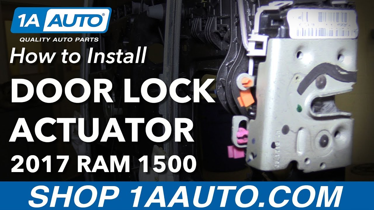 How To Replace Front Door Lock Actuator 09 18 Ram 1500 Youtube