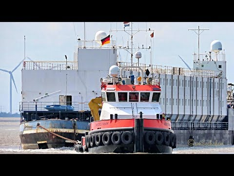 Floatel ROSSINI & Schlepper AMSTELSTROOM tug & accommodation barge PIAS IMO 9295775 Emden