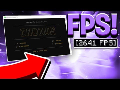 INSANE FPS BOOSTING PROGRAM!   +2000 FPS   Indium FPS RELEASE!
