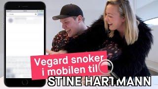Vegard snoker i mobilen til Stine Hartmann