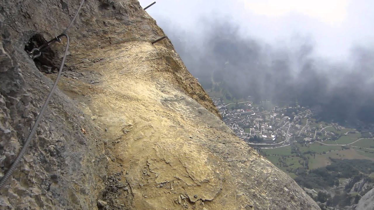 Klettersteig Daubenhorn : Via konst klettersteig leukerbad daubenhorn youtube