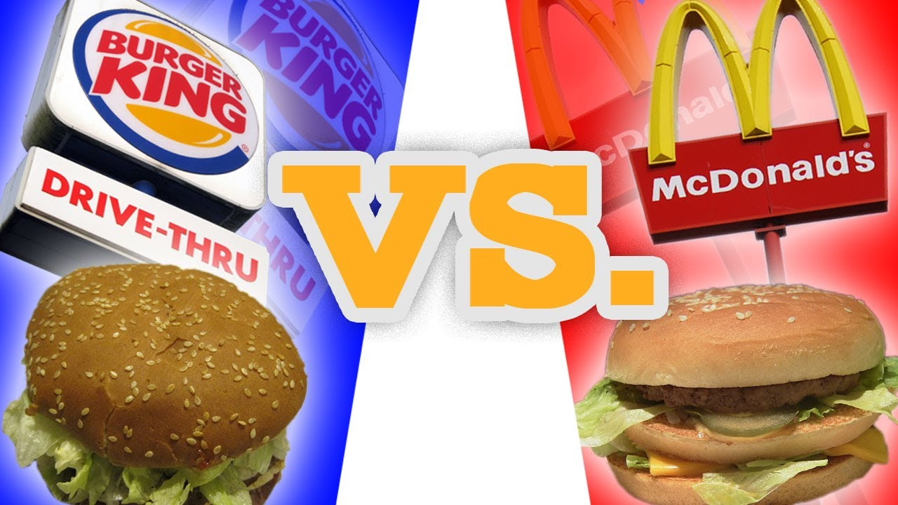 mcdonald vs burger king compare and An essay or paper on comparison of mcdonalds and burger king is mcdonalds more competitive than burger king i am comparing mcdonalds and burger king with each other.