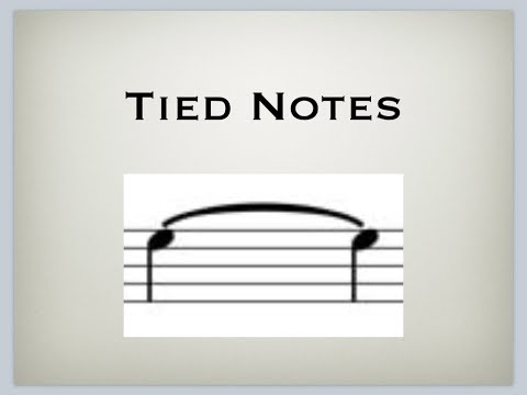 Free Music Theory - Tied Notes