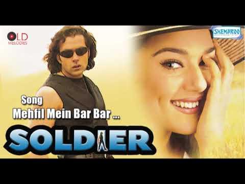 Mehfil Mein Bar Bar | Soldier | Bobby Deol, Preity Zinta HD