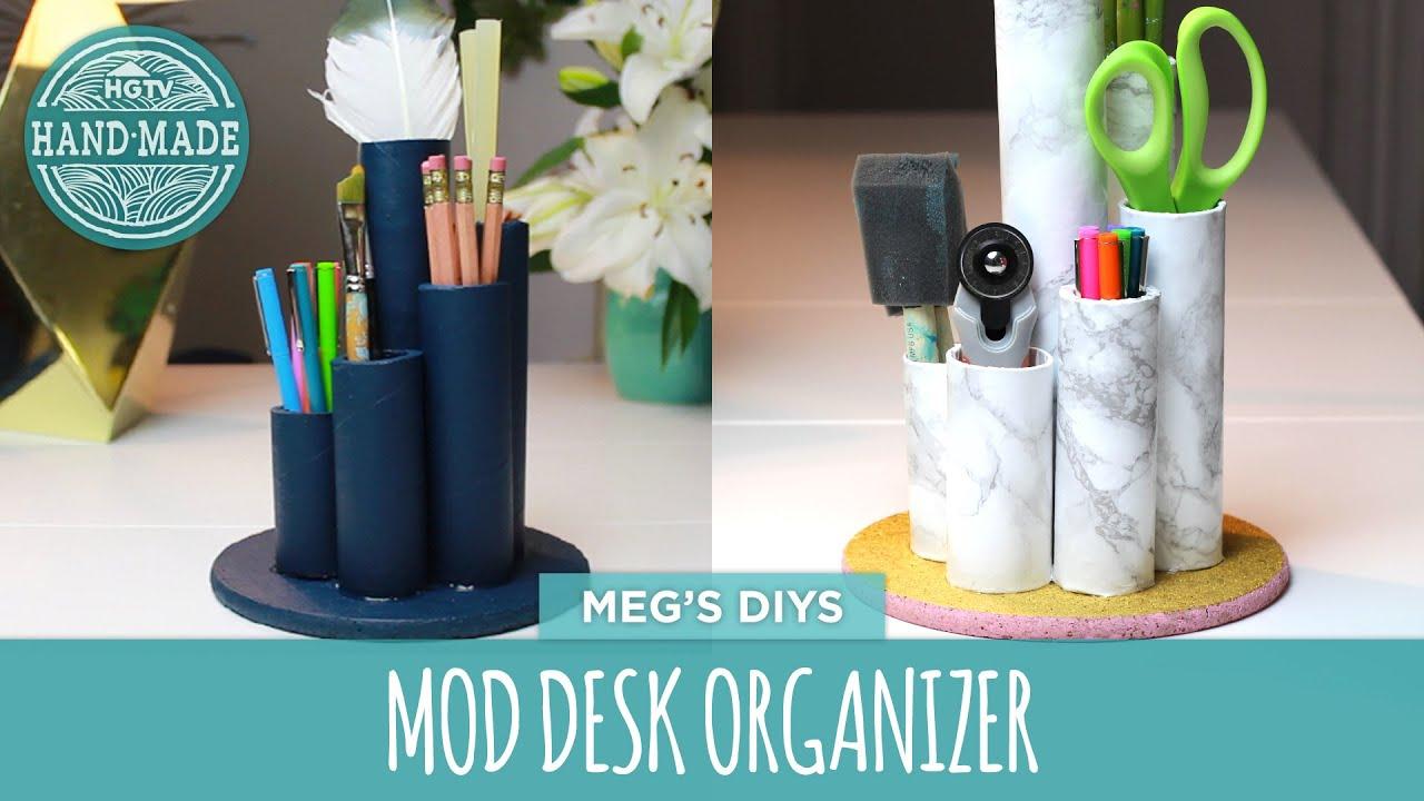 Hand Made Desk dorm decor: desk organizer- hgtv handmade - youtube