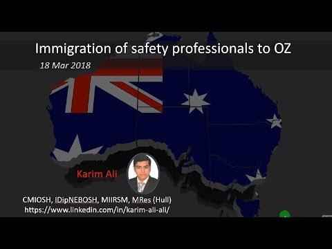 Immigration of Safety Advisors to Australia - هجرة مهندسي السلامة الي استراليا