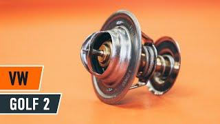 Kuinka korvata Termostaatti jäähdytysneste VW GOLF II (19E, 1G1) - opetusvideo
