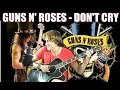 Guns N' Roses - Don't Cry [SLASH FINGERSTYLE guitar] Acoustic guitar solo cover