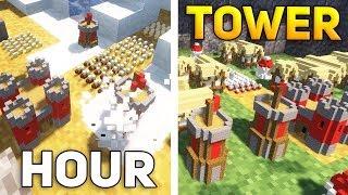 СТРАТЕГИЧЕСКАЯ БИТВА В МАЙНКРАФТЕ - Minecraft Tower Hour