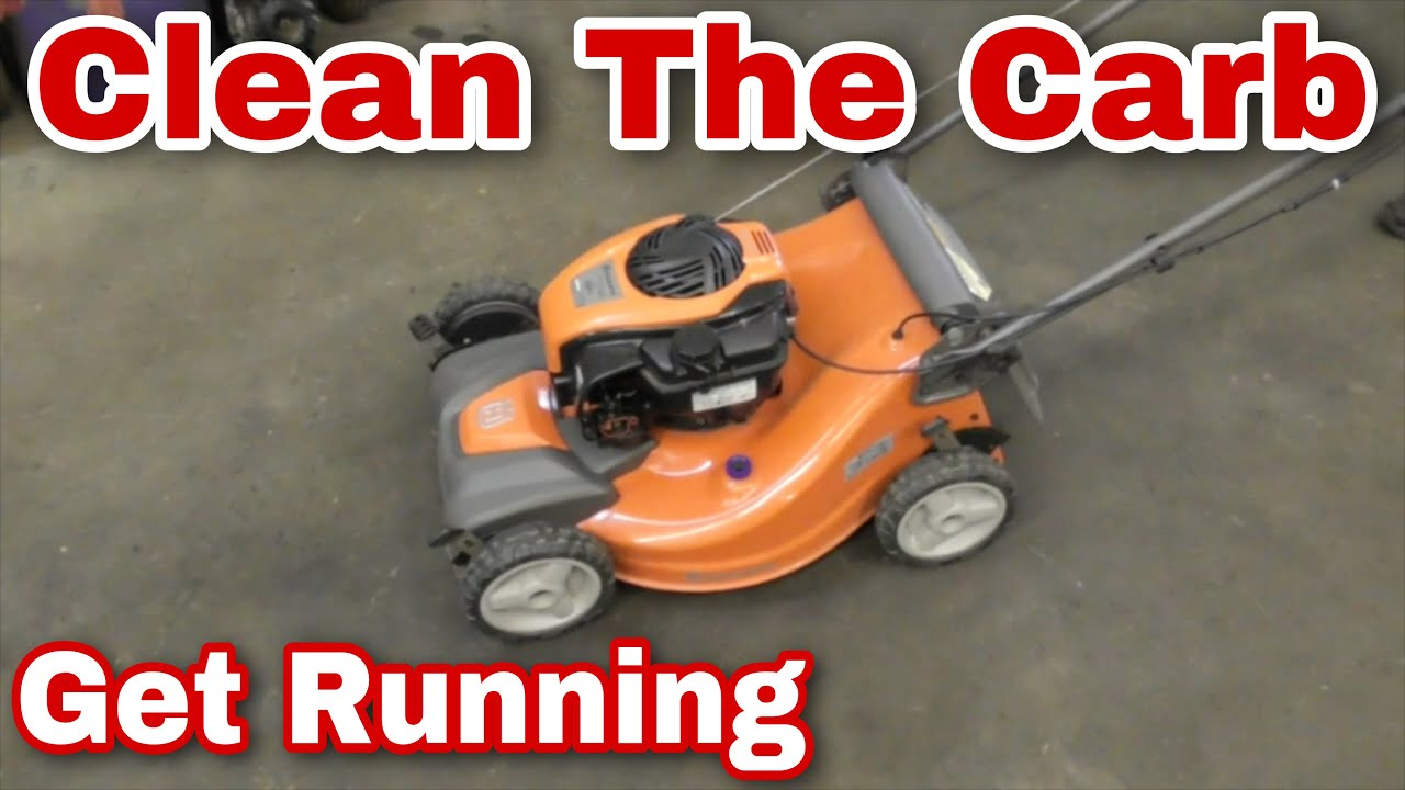 How To Clean The Carburetor On A Push Mower (New Plastic Style Briggs Carb)