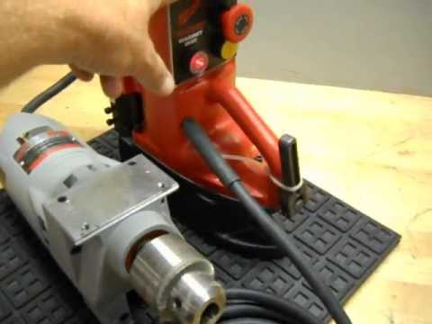 Testing a Milwaukee 4262-1 Magnetic Base Drill Press - YouTube on 4262 milwaukee magnetic drill, 3 4 magnetic drill, milwaukee 4202 mag drill,