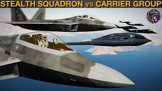 Can A Stealth Figнter Bomber Squadron Beat A US Carrier Group? (Vid 15) | DCS WORLD