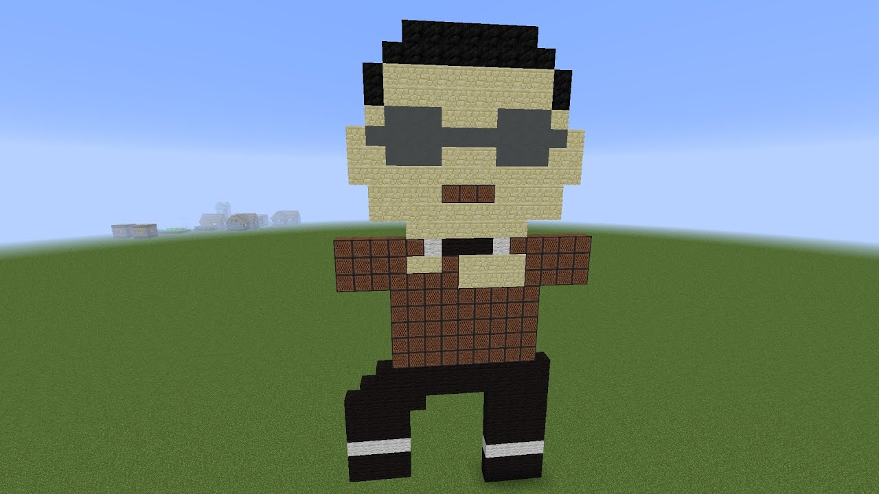 psy gangnam style minecraft note block song youtube