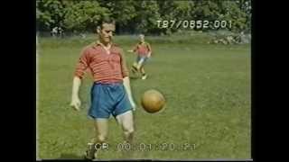 Fotbollslandslaget tränar, 1958