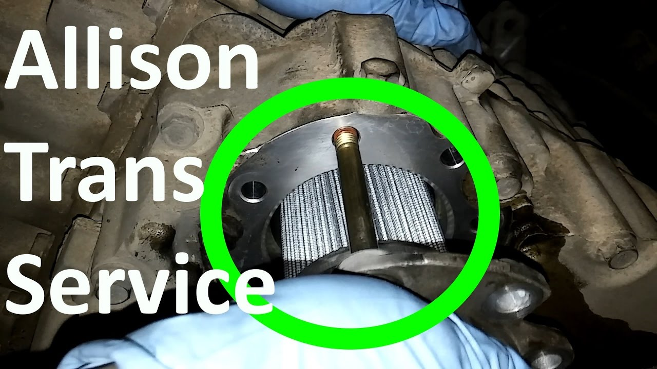 hight resolution of how to do an allison transmission service allison 4 and 2 sump oil change youtube