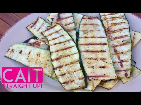 How To Grill Zucchini Squash | Grilled Zucchini Recipe | Cait Straight Up