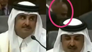 Sisi interpurate Qatar prince during his speech