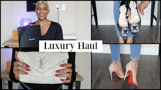 LUXURY DESIGNER HAUL (Christian Louboutin, Manolo Blahnik, Saint Laurent and Valentino)