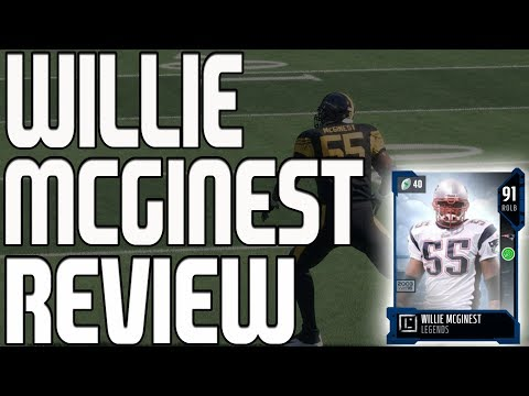 91 LEGEND WILLIE MCGINEST REVIEW | MADDEN 18 ULTIMATE TEAM PLAYER REVIEW
