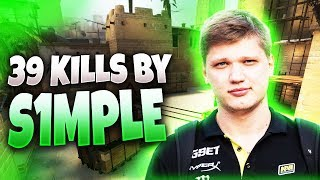 CS:GO - s1mple 39 frags on Mirage @ EPL