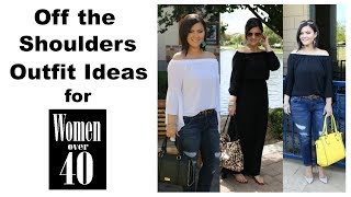 Off The Shoulder Outfit Ideas For Women Over 40 -  Regain Your Confidence