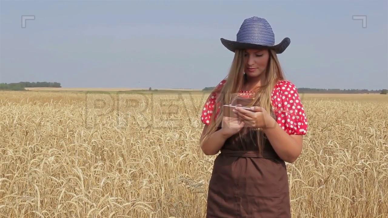 Blonde farm girl gif