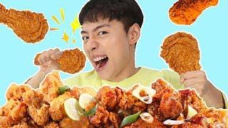 치킨먹방 후라이드 양념치킨 간장치킨 매운치킨 다있어요!!보람튜브도 반한 치킨- 마슈토이 Mashu ToysReview