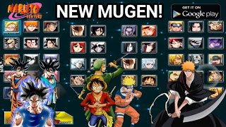 NEW MUGEN Apk! [90MB] Naruto vs Bleach vs Goku Black! |