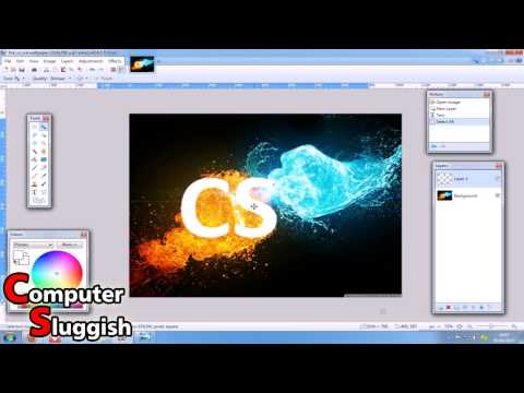 Paint.net How To Add Image To Text EASY 2015 #8
