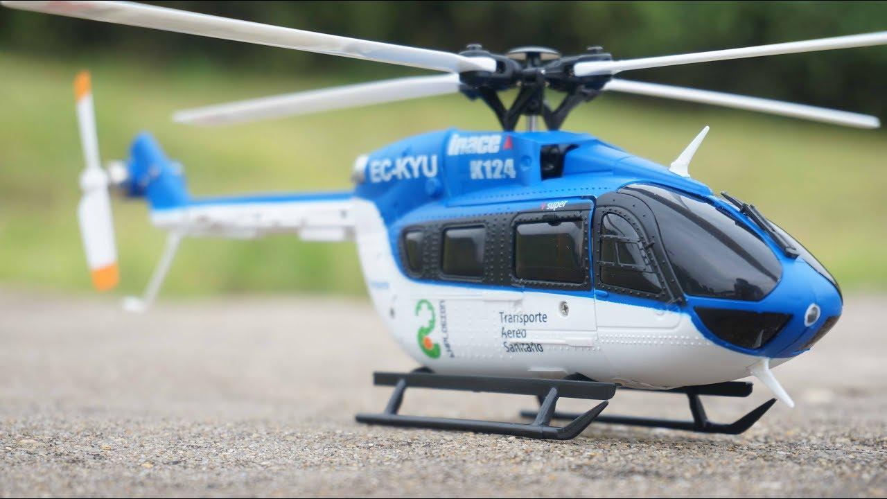 XK K-124 2.4 G 6CH RC Hélicoptère EC145 3D6G système sans balai Upgraded prêt à voler Modèle