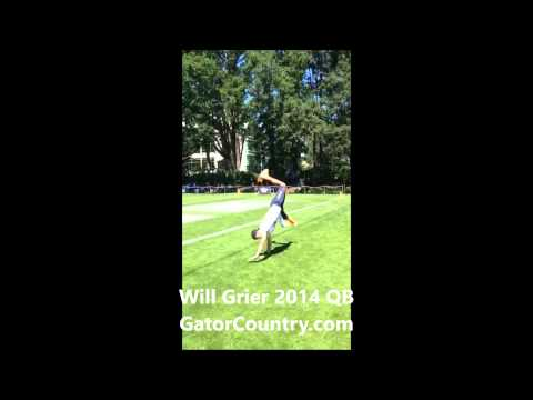 Will Grier does flips