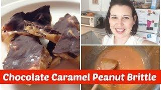 Chocolate Caramel Peanut Brittle | Cupcats