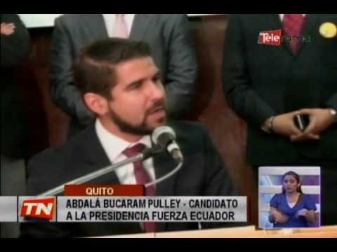 Binomio presidencial Bucaram-Aguilar se inscribió en el CNE