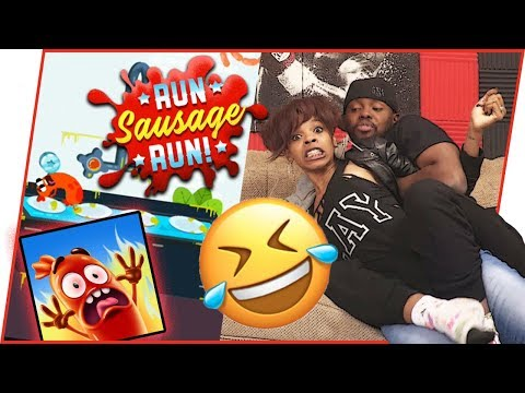 OH SNAP! HUSBAND AND WIFE FIGHT OVER SAUSAGE! - Run Sausage Run Gameplay | Mobile Series Ep.37