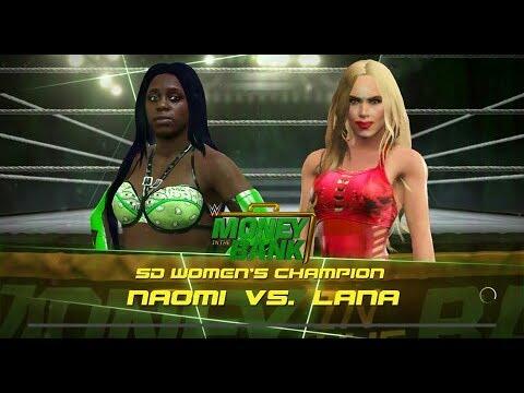 Lana VS Naomi Money In The Bank SmackDown Live Womans Championship Match
