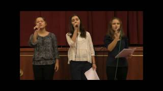 """Vois sur ton chemin"" LIVE (Б.Куле из к/ф""Хористы""), исп. анс-ль ""Ангелы мира"" (14-16 лет)"