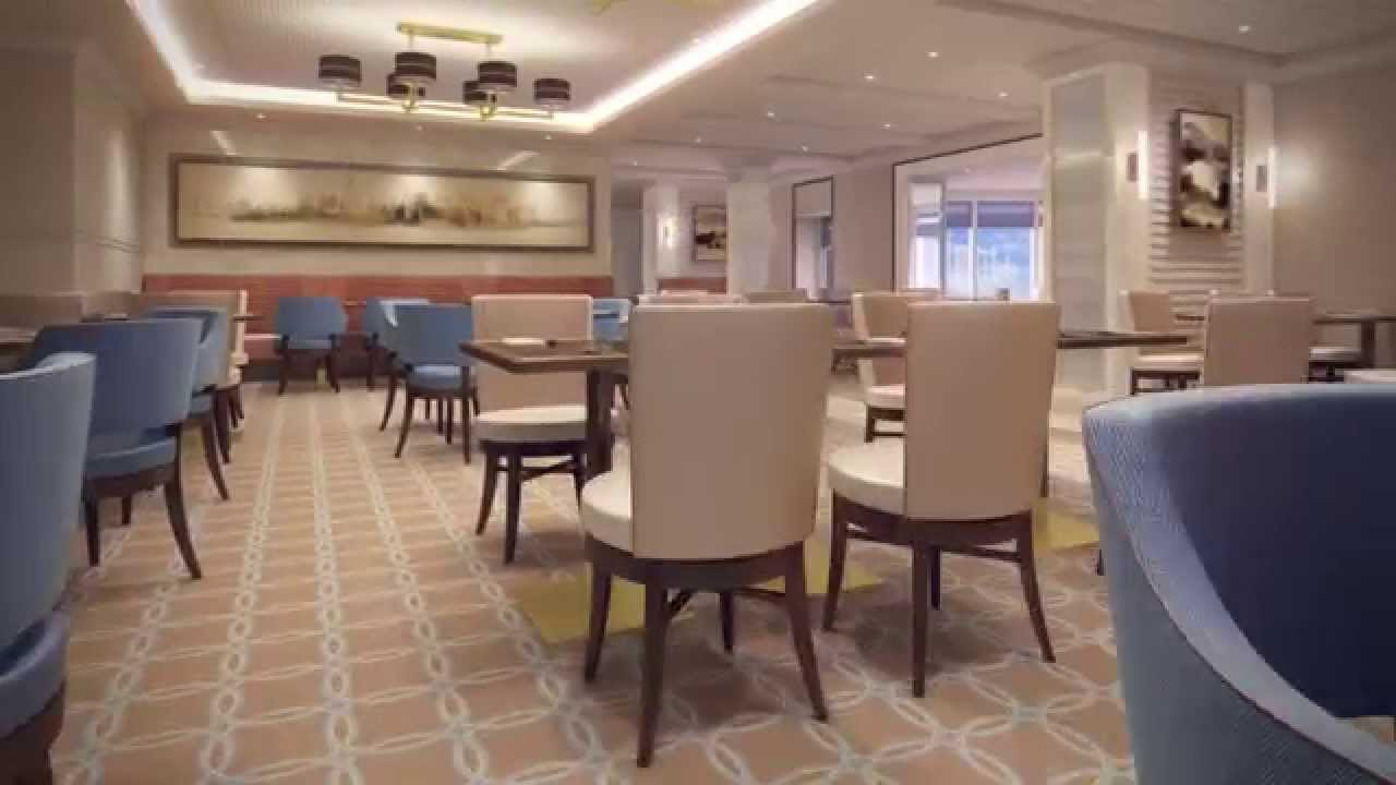 Queen mary 2 refit kings court youtube for Garderobe queen mary 2