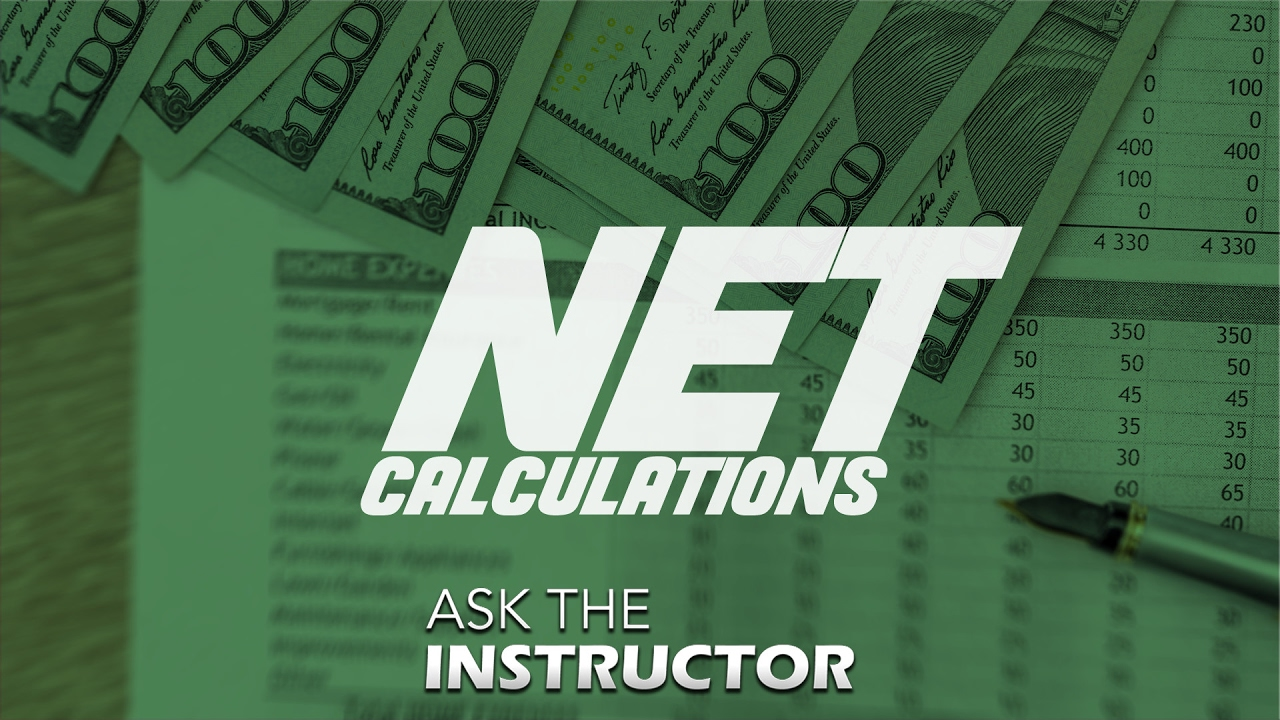 Real Estate Net Calculations Tampa School Of Real Estate Youtube