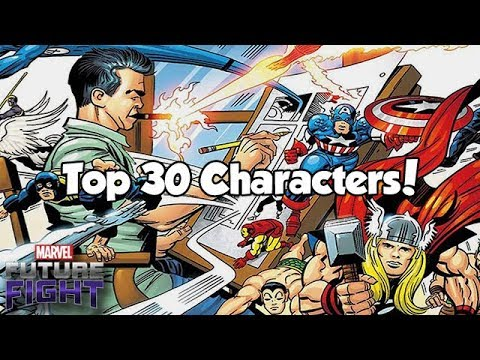Top 30 Characters! (Aug Snapshot) - Marvel Future Fight