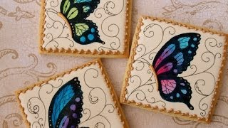 How To Decorate Butterfly Cookies
