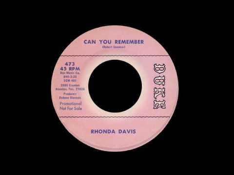 Rhonda Davis - Can You Remember