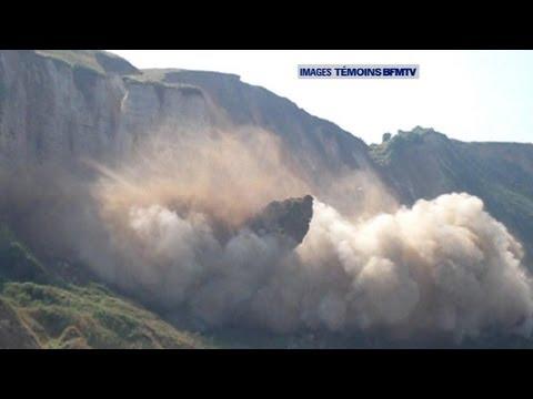 Eboulement d'une falaise à Saint-Jouin-Bruneval - 18/07