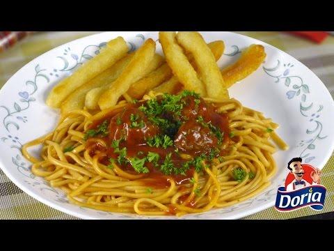 Spaghetti Doria Sabor Ranchero con Albóndigas